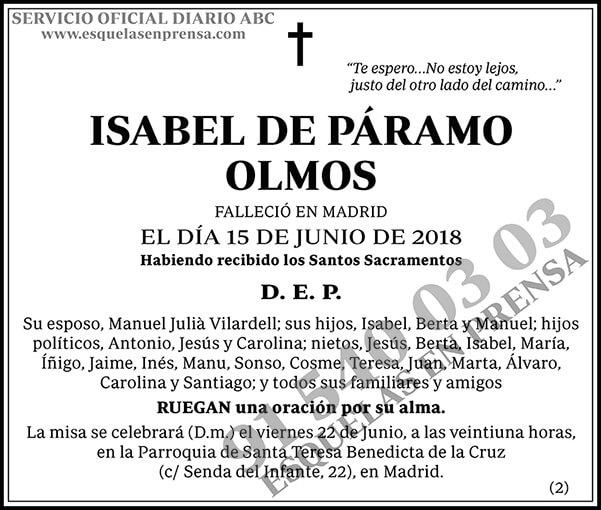 Isabel de Páramo Olmos